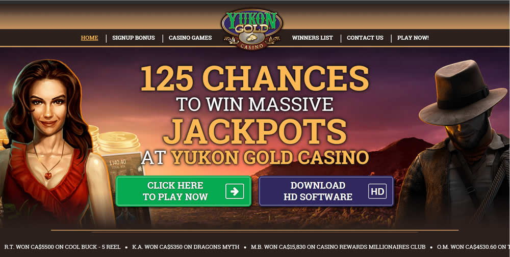 Yukon Gold Casino website in Canada