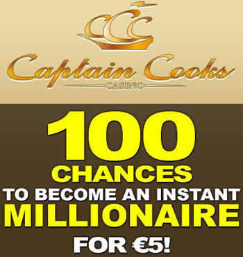 Captain Cooks suits those looking to win jackpots with 100 extra spins