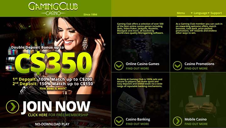 Canadian Dollar - Gaming Club in Canada
