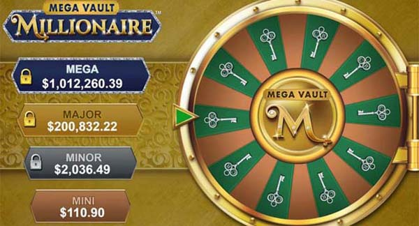 The 4 jackpots to win at Mega Vault Millionaire
