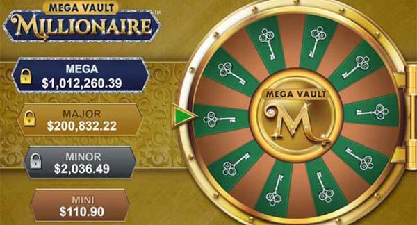 The 4 jackpots to win at Mega Vault Millionaire