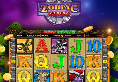 Mega Moolah Zodiac Casino - 80 free spins for only $1
