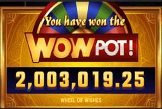 Wow Pot - the incredible pot at this slot machine