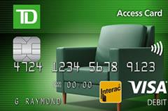 TD Canada Trust interac card