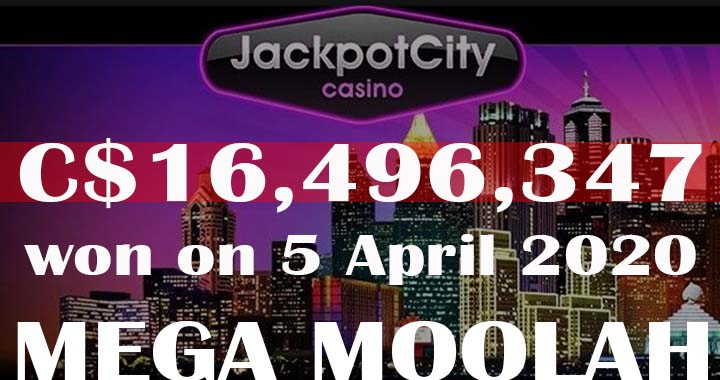 Mega Moolah record win at Jackpot City online casino